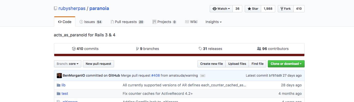 Gotcha using paranoia - a soft delete gem for Ruby on Rails application